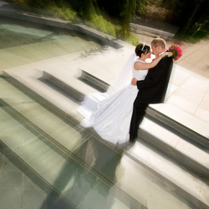 oregon temple wedding picture