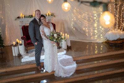 indoor wedding photo